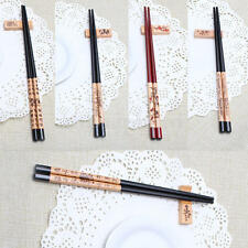 2 Pairs Home Kitchen Tableware Tools Wood Wooden Chopsticks + Holder + Box Set