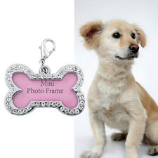 Mini Pet Dog Cat Puppy Name Tag Circle Tags ID Stainless Steel Cute Fun DIY