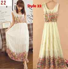 Summer Style Bohemian Women Ladies Dress Floral Beach Maxi Dress 7 - Size Small