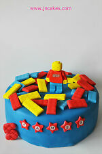 lego cake toppers edible decoration personalised birthday unofficial