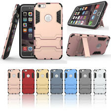Hard Hybrid Shockproof Rubber Silicone Cover Case with Stand For iPhone5 6s PLUS