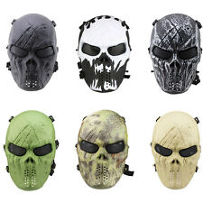 Full Face Protection Skull Mask Skeleton Army Airsoft Tactical Paintball CS Game