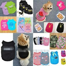 Summer Various Pet Puppy Small Dog Cat Pet Clothes Vest T-Shirt Dress Apparel