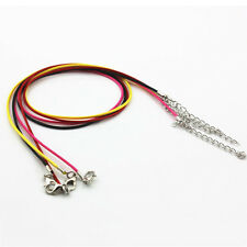 """10pcs Necklace Leather Cord Chain Findings 18"""" String Rope with Lobster Clasp"""