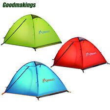 Windproof Waterproof Double-layer 2-3 Person Family Tent Camping Hiking 3 Season