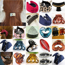 NT Women Girls Crystal Plastic Hair Clip Clips Claw Comb Accessories Headwear