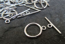 10 Sets Antique Silver Copper Bronze or Gold Toggle Clasps 21mm