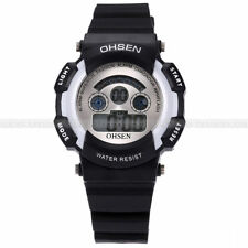 Ohsen LCD Waterproof Digital Alarm Date Flash Light Colorful Sport Watch U S A