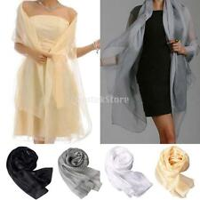 Women Elegant Pashmina Soft Cotton Silk Wrap Shawl Scarf Long Voile Stole