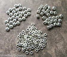 Antique Silver Metal Spacer Beads Heishi Disc Square Lantern 6/7/8mm