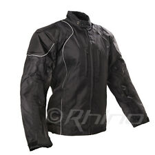 Motorcycle Textile Cordura Jacket Vents and Removable Armour Waterproof Black S-