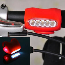 Cycling Bike Bicycle Red Silicone 7 LED Frog Front Head Light Rear Warning Lamp.