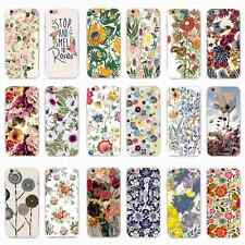Cute Luxury Spring Flowers Pattern Soft Back Case Cover Skin for iPhone&Samsung