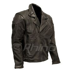 Leather Retro Motorcycle Vintage Black Brown Distressed Jacket Retro Brando Clas