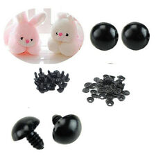 Safety 100pcs Animal/Felting Eyes Plastic For Teddy Bear 6-14mm Toy Black NEW