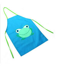 Cute Kids Child Waterproof Apron Cartoon Frog Printed Painting Cooking Apron Hot