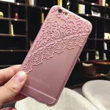 Crystal Thin Lace Silicone Rubber Case Cover Skin for Apple iPhone 6&6s 4.7/Plus