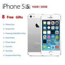 "Apple Smart Phone iPhone 5S 4G LTE Factory Unlocked 4"" 32GB/16GB Silver I1A1"
