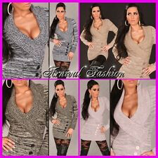 NEW SEXY LADIES JUMPER DRESS 6 8 10 12 14 HOT WOMEN'S CASUAL FASHION TOP SWEATER
