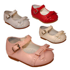 BUY BABY TODDLER GIRLS SEVVA SPANISH PATENT PARTY WEDDING BOW WALKING SHOES 2-5