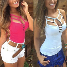 Sexy Women Summer Vest Camisole Tank Top Sleeveless Blouse Casual T-shirt GN