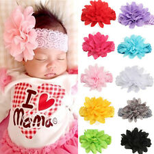 Kid Girl Baby Headband Toddler Lace Bow Flower Hair Band Accessories Headwear WS