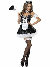 French Maid Fancy Dress Costume Ladies Sizes 8-18 Womens Outfit Hen Night