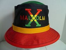 NWOT Malcolm X Black Red Gold Green Africa Fisherman Bucket Hat