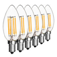 Retro E12 E14 2W 4W 6W Dimmable Edison Filament Bulb LED Light Lamp Candle