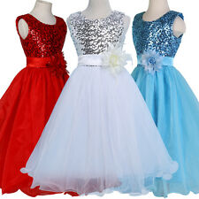 Princess Pageant Ball Party Gown Flower Girls Dress Formal Bridesmaid Evening