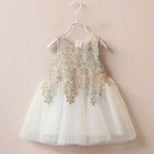 TUTU Lace Tulle Ivory Flower Girl Dress Wedding Easter Junior Girl Dress Baby