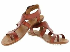 womens 561 gladiator style genuine leather huarache sandal ankle strap brown