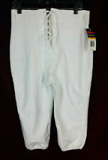 NEW WITH TAGS WILSON FOOTBALL PANT #5637 WHITE SOLID NWT DRAW STRING FRONT