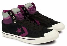 Converse Women's CT All Star Black Purple Gray Mid Sneakers 139702 Hi Top Shoes