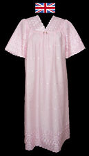 Broderie Anglaise V Neck Short Sleeve Nightdress up to size 28