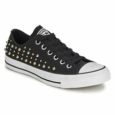 Converse Chuck Taylor All Star Ox Black Womens Trainers - 544884 Free Shipping