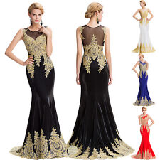 Wedding Peacock Cocktail Formal Long Dress Party Prom Pageant Ball Gown Evening