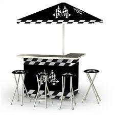 Outdoor Patio Bar Portable Tiki Tailgating Table Cooler Umbrella Stools Pool Bag