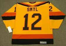 STAN SMYL Vancouver Canucks 1985 CCM Vintage Throwback Home NHL Hockey Jersey