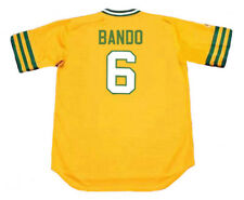 SAL BANDO Oakland Athletics 1973 Majestic Cooperstown Home Baseball Jersey