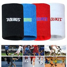 Sports Basketball Unisex Cotton Sweat Band Sweatband Wristband Wrist Band New