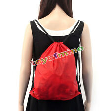 Nylon Drawstring Cinch Sack Sport Beach Travel Outdoor Backpack Bags