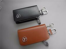 brand New mercedes benz car leather bag key ring case key bag