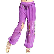 New Top Belly Dance Chiffon Coins Led Open Pants Dancing Tribal Lantern Costume