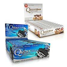 Quest Bars Mix & Match 2 Boxes (24 Bars) Select Flavor #1, Select Flavor #2