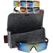 Universal Sport Sunglasses in Mirrored, Clear or Regular Tint with FREE CASE