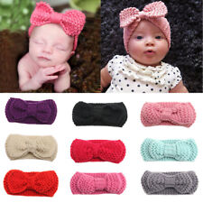 Baby Girls Headband Newborn Crochet Bow Hairband Hair Band Accessories Headwear