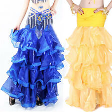 Top Professional Belly Dance Costume Waves Skirt Dress with slit Skirt 6 Colors