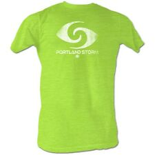 World Football League T-Shirt Portland Storm Adult Neon Green Shirt
