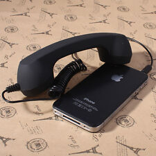 New 3.5mm Mic Retro POP Cell Phone Handset For Mac Iphone Ipad,Nokia Fancy Gift